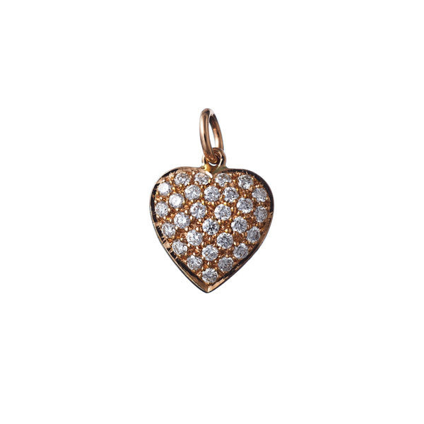 AENEA CHARM Collection Heart Platinum / Yellow Gold or Rose Gold with White Diamonds