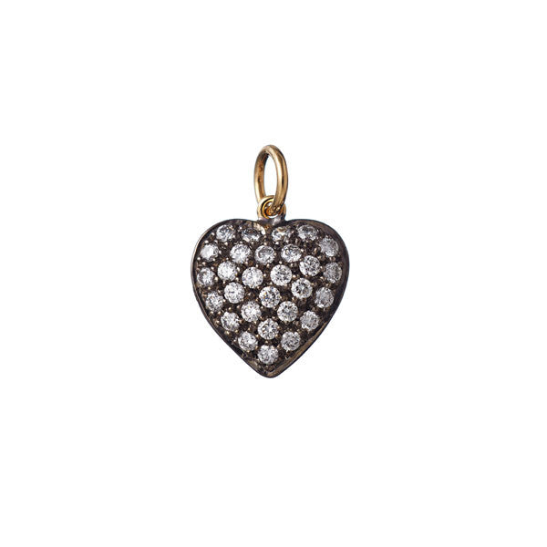 AENEA CHARM Collection Heart Platinum / Yellow Gold or Rose Gold with White Diamonds  BACKSIDE