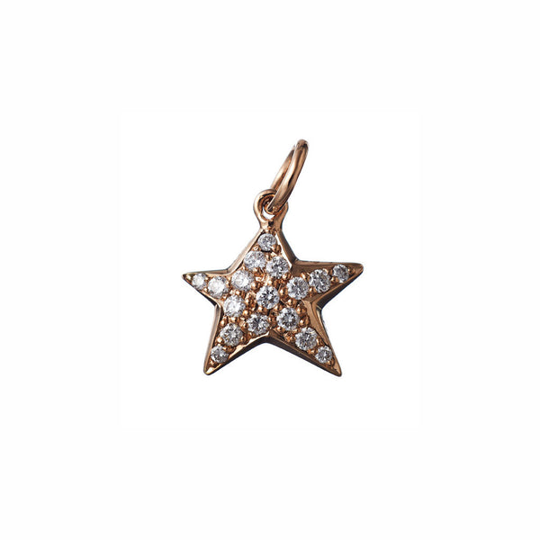 AENEA CHARM COLLECTION Pendant Star Rose Gold with White Diamonds
