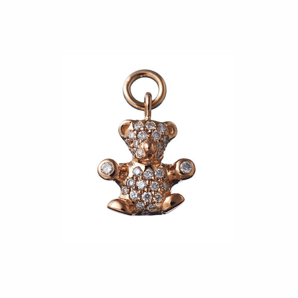 AENEA CHARM COLLECTION Pendant Teddy Rose Gold with White Diamonds