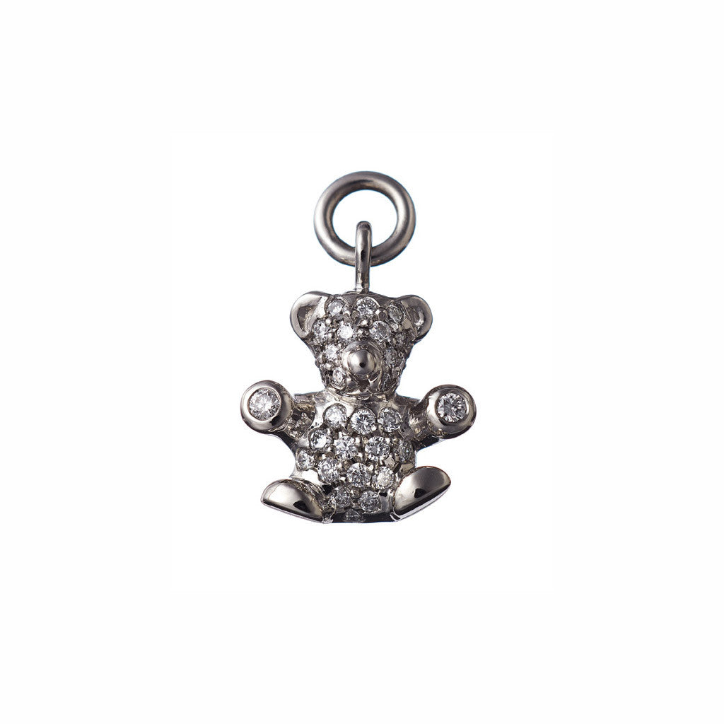 AENEA CHARM COLLECTION Pendant Teddy Platinum with White Diamonds