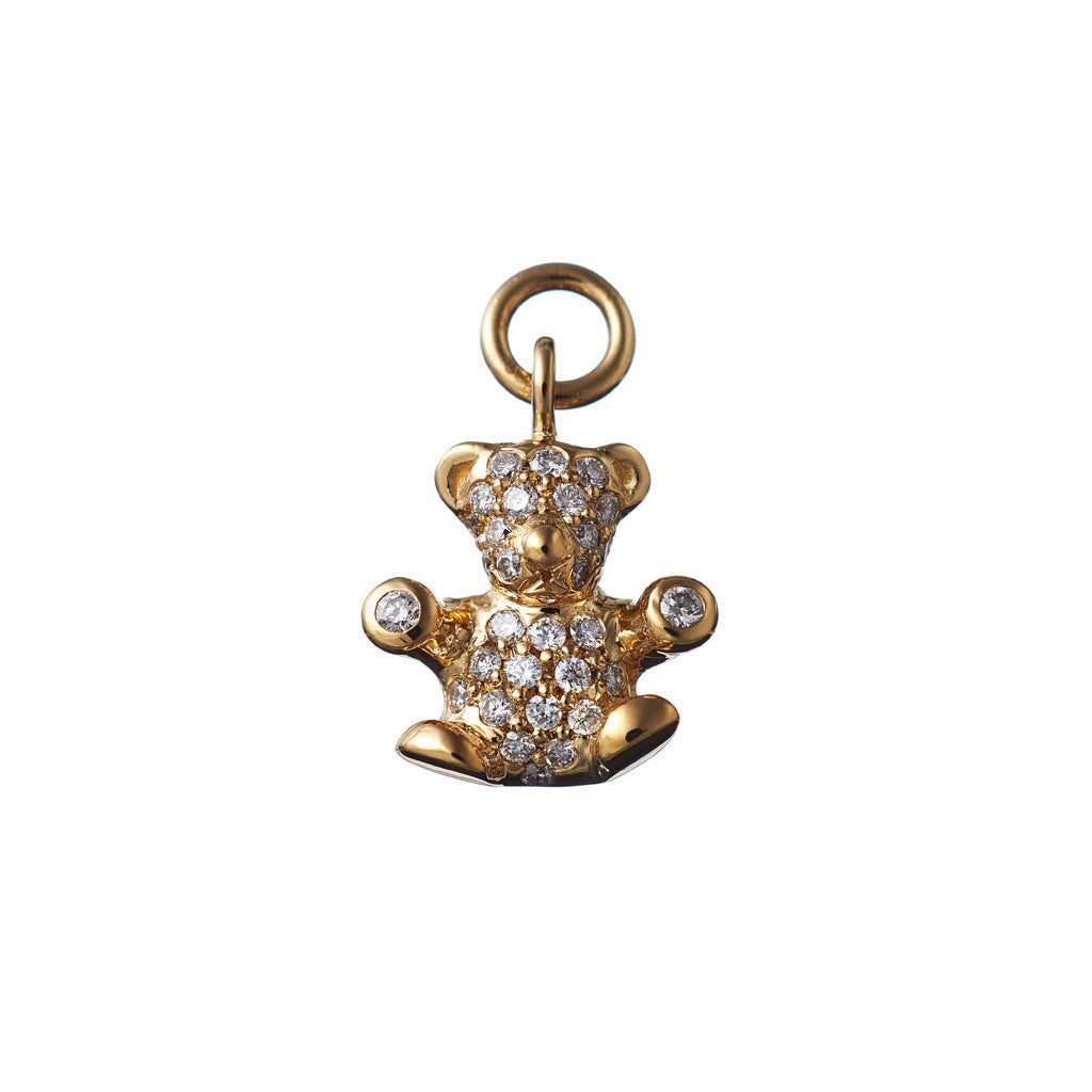 AENEA CHARM COLLECTION Pendant Teddy Yellow Gold with White Diamonds