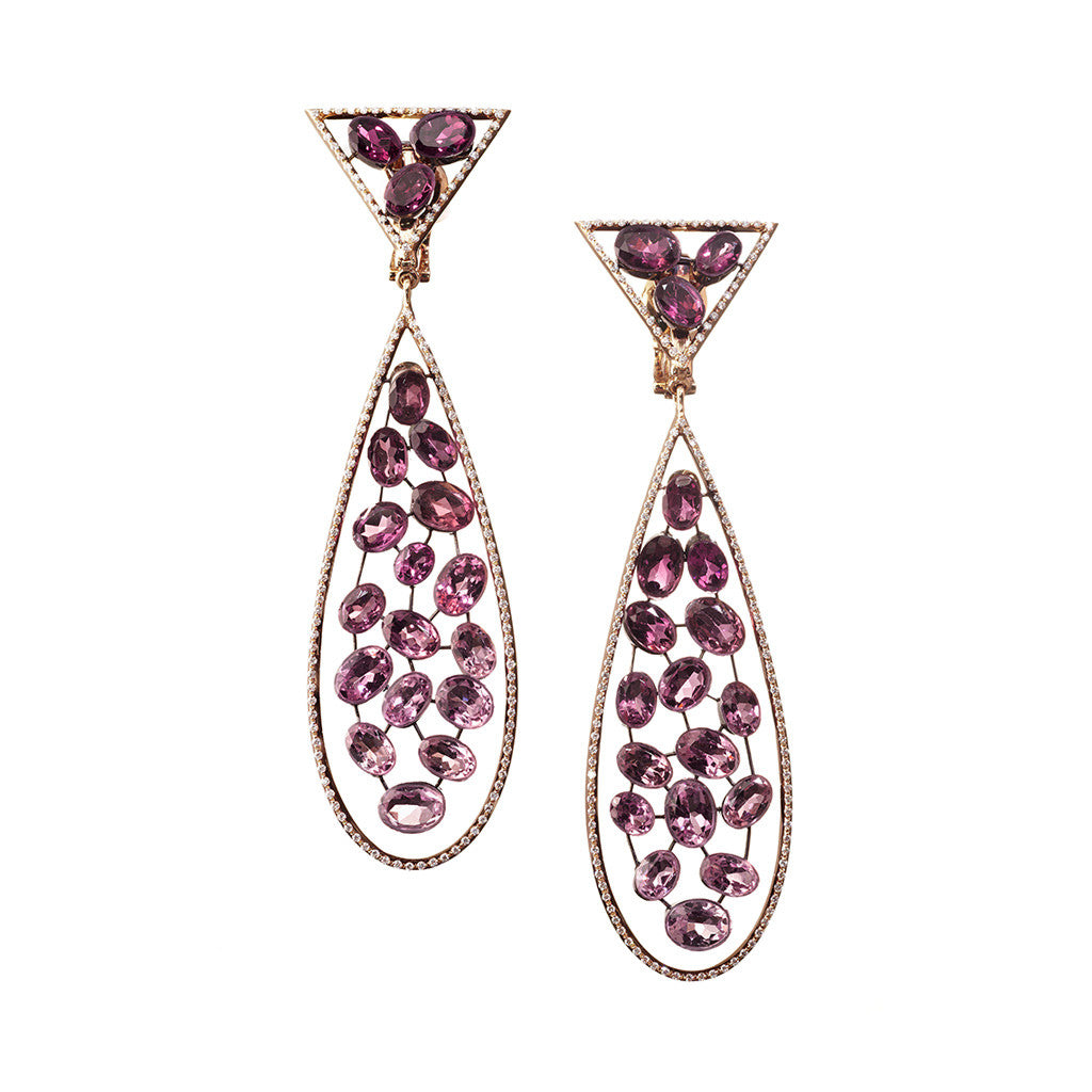 Earrings Pink Tourmalines