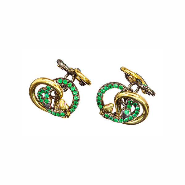 Cufflinks Emeralds