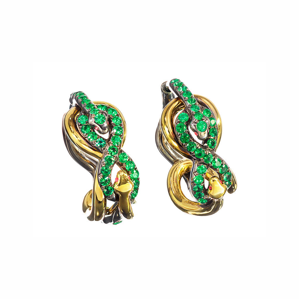 Earrings Emerald Creoles