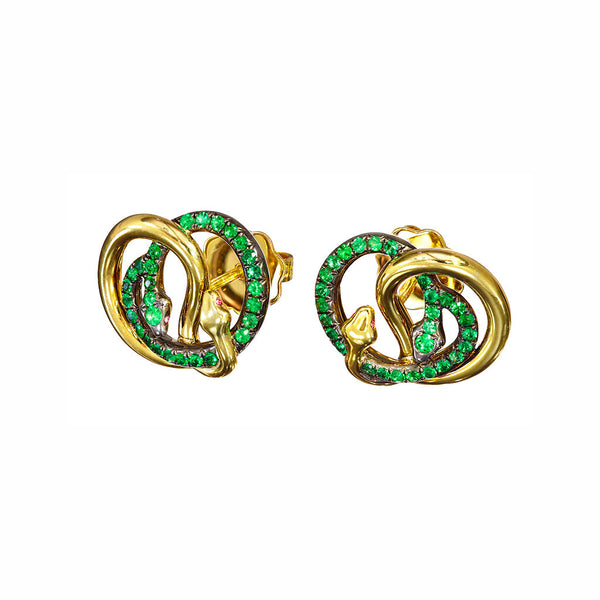 Earrings Emerald Studs