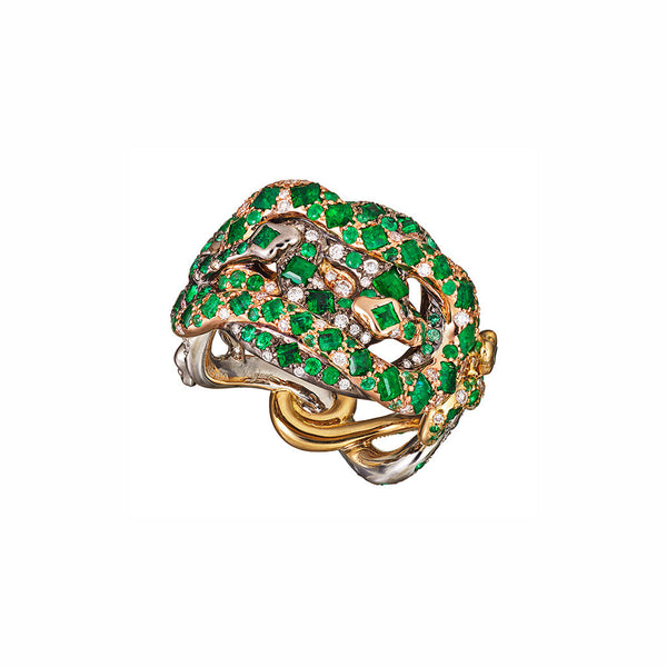 Ring Emerald 4 Metals