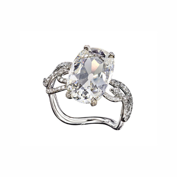 Ring Old Cut Diamond 3,09ct J/VVS2