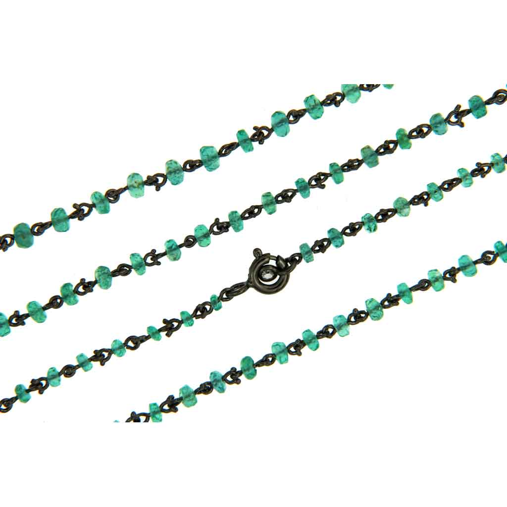 AENEA CANDY COLLECTION Necklace Sterling Silver with Emeralds