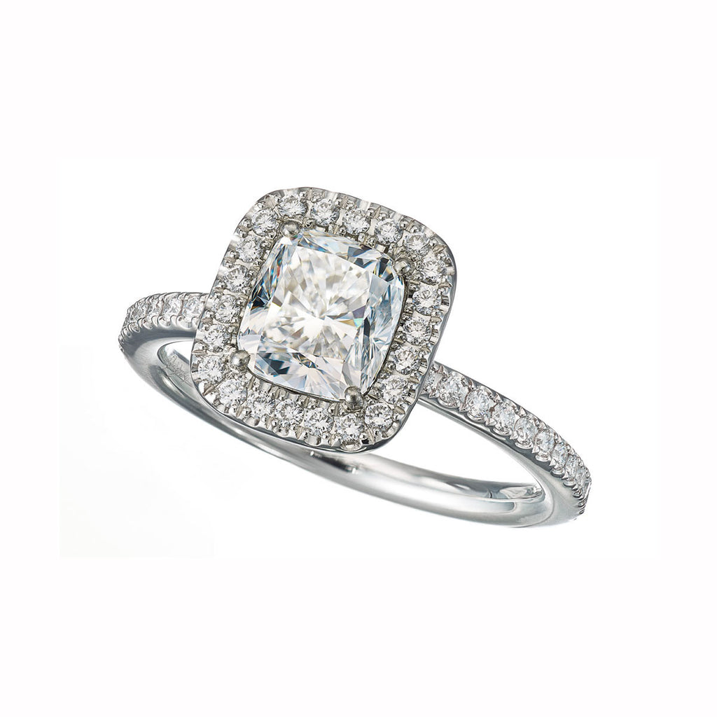 Ring White Diamonds E/VS1 1.55Cts