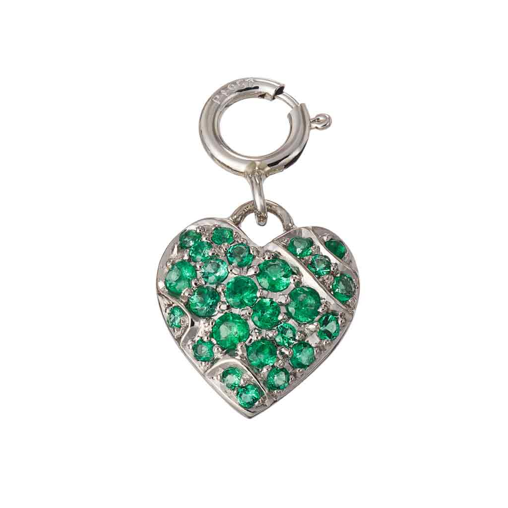 Pendant Heart Emeralds