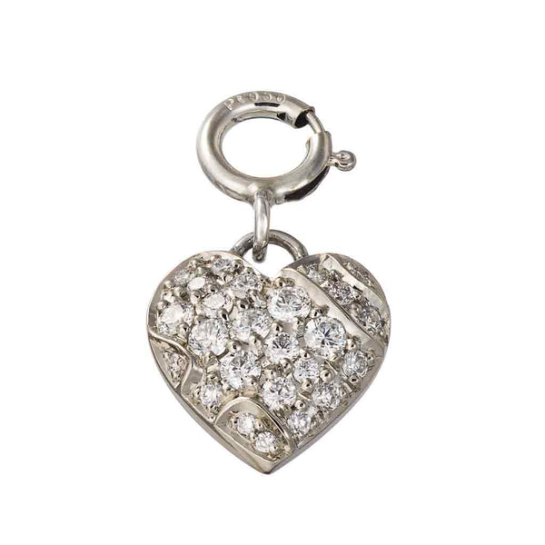 Pendant Heart White Diamonds