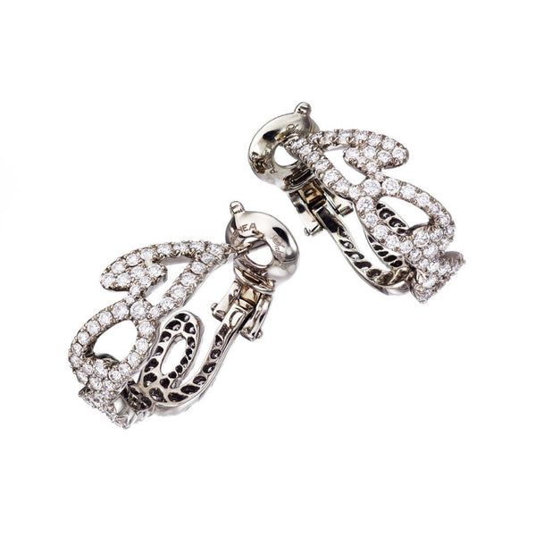 Earrings White Gold with White Diamonds