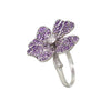 AENEA Quadrifoglio Collection Ring purple Amethysts and white diamonds