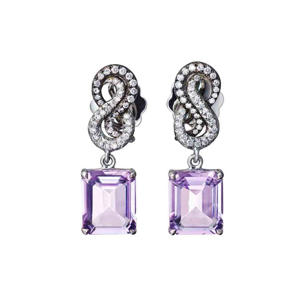 Earrings Pink Amethyst