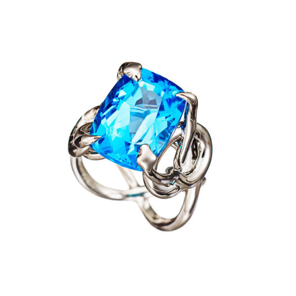 Ring Blue Topaz Palladium