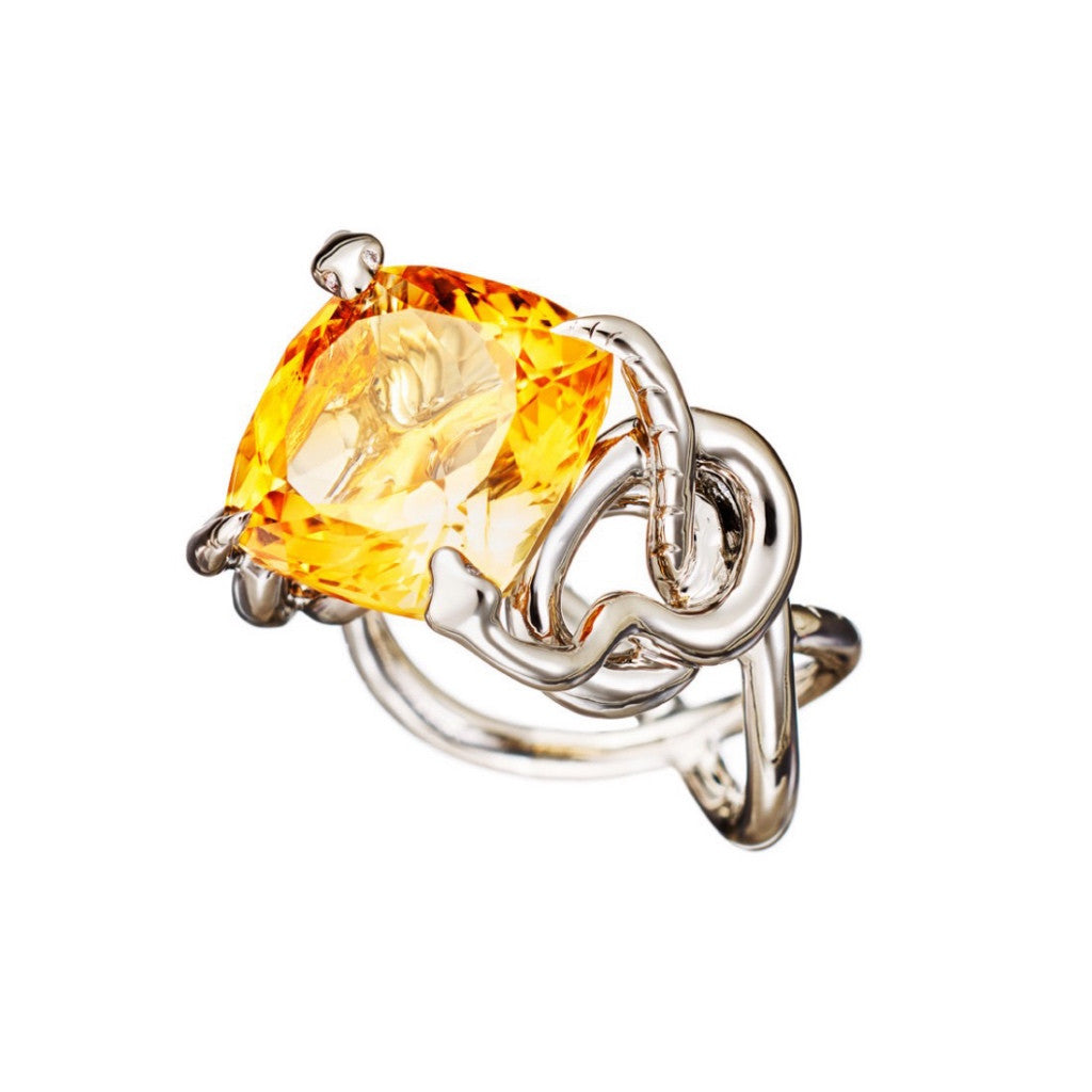 Ring Citrine Palladium