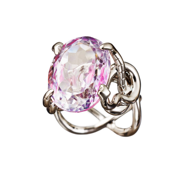 Ring Pink Topaz Palladium
