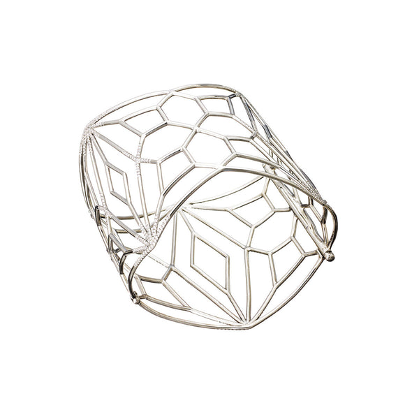 AENEA TWINKLE Collection Bangle Palladium with White Diamonds
