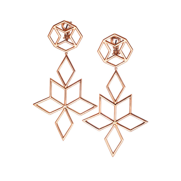 Earrings Pink Gold Big