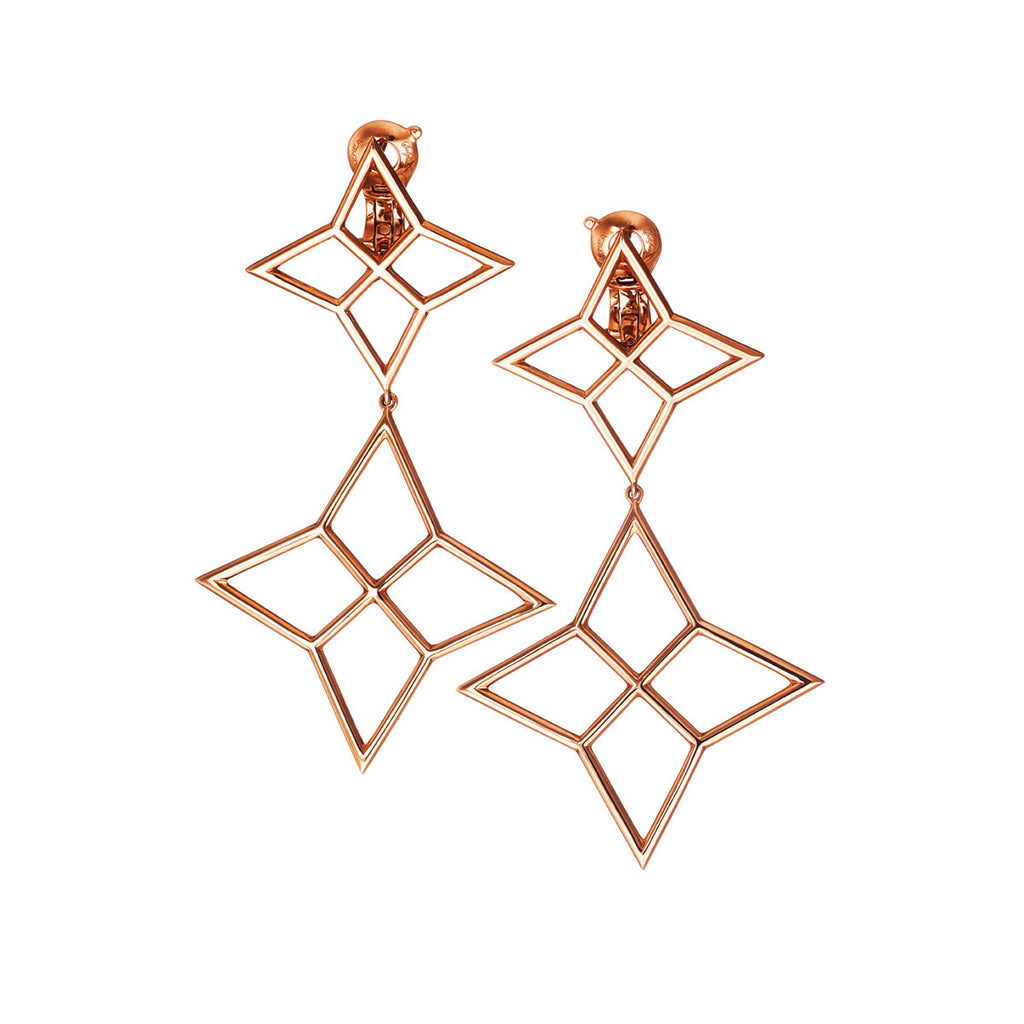 Earrings Pink Gold Small