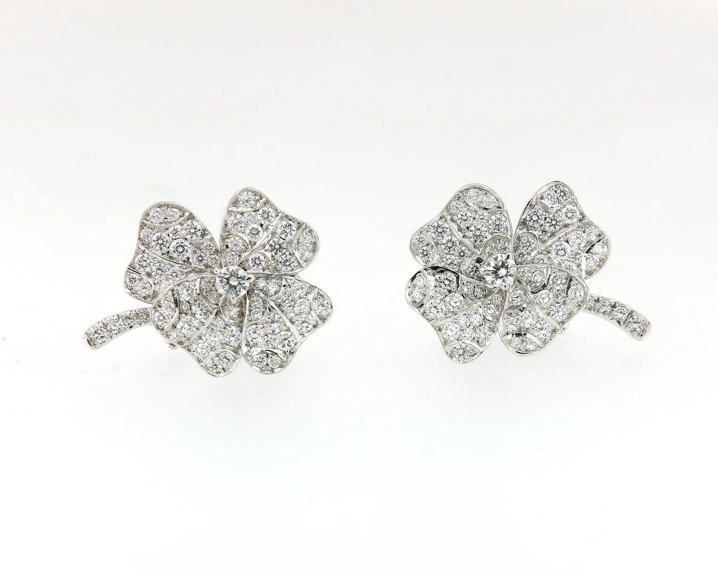 Earrings White Gold with White Diamonds (small) (BILD)