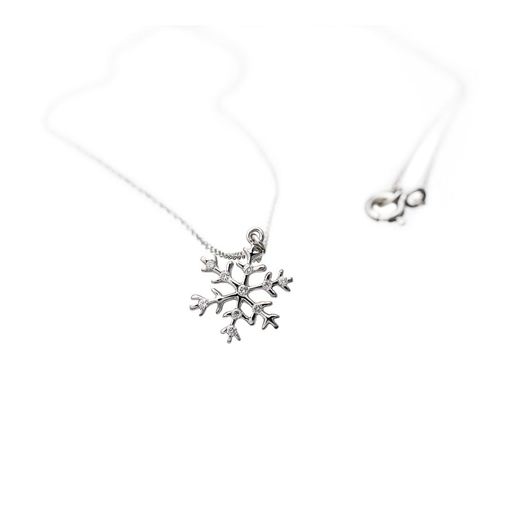 AENEA CHARM COLLECTION Pendant Snowflake White Gold with White Diamonds