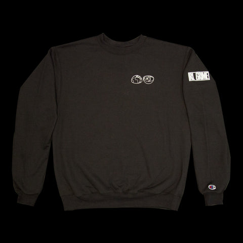 Split World Crewneck - Black
