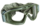 E097-G Combat Goggles Type 2 Green with 3 Lenses and Carry Case