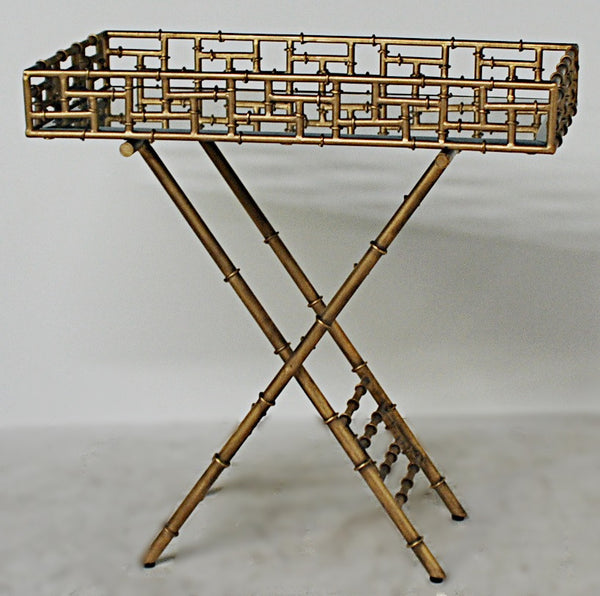 Faux Bamboo Butler's Tray Stand / Bar