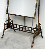Faux Bamboo Cheval Mirror