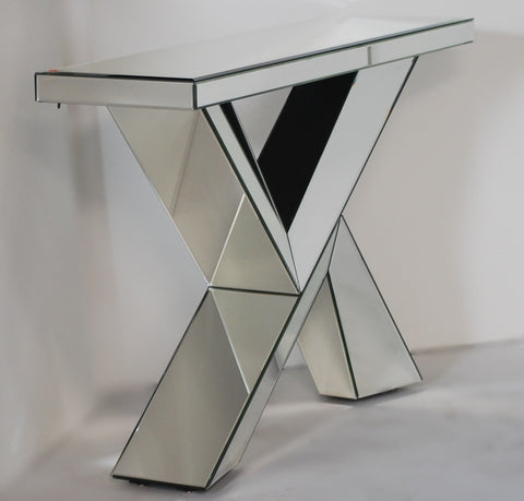 Abstract Mirrored Console Table