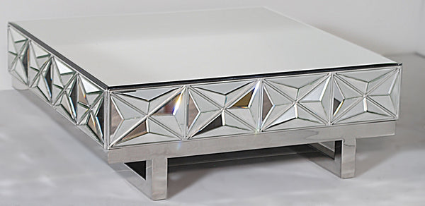 Abstract Mirrored Coffee Table