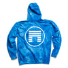 OCEAN TIE DYE  HOODED SWEATSHIRT