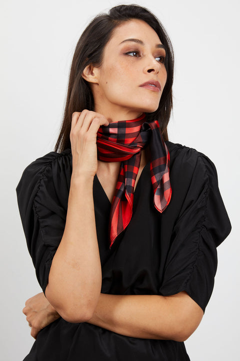 Lily Scarf | Mr Claus Plaid