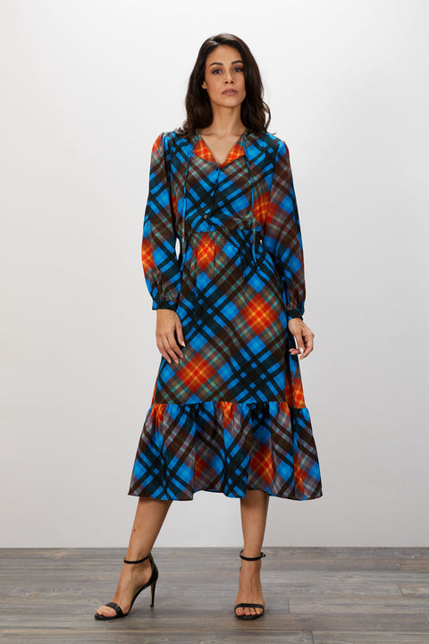 Juliette Dress | Yukon Cornelius Plaid