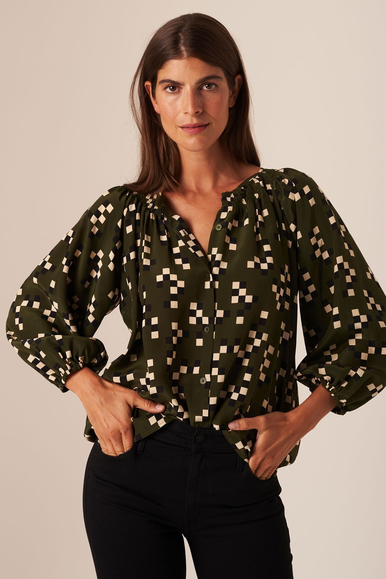 The Classic Blouse | Forest Maze