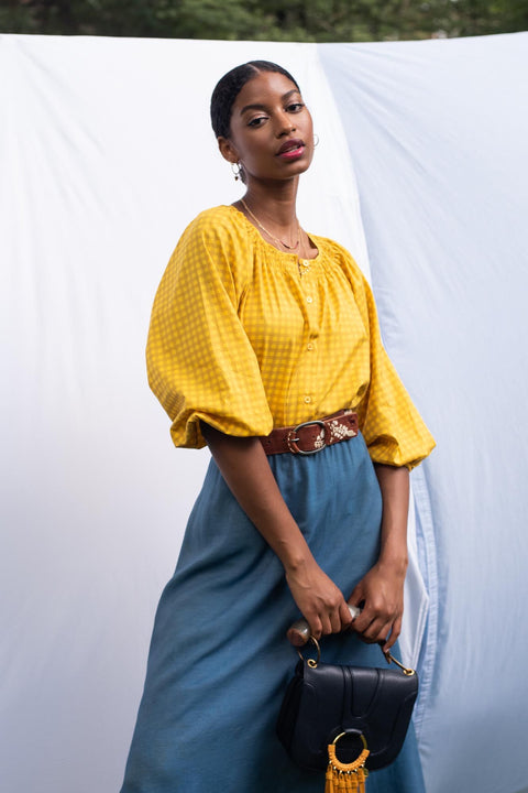 The Classic Blouse | Lemon Gingham