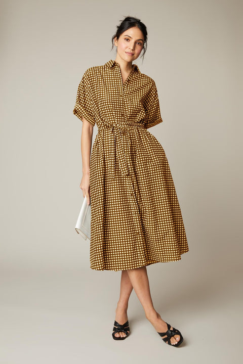 Safari Shirtdress | Butter Gingham