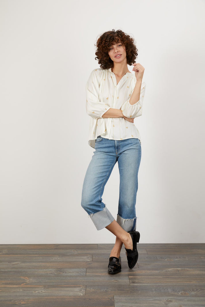 The Classic Blouse | Climbing Scarab White