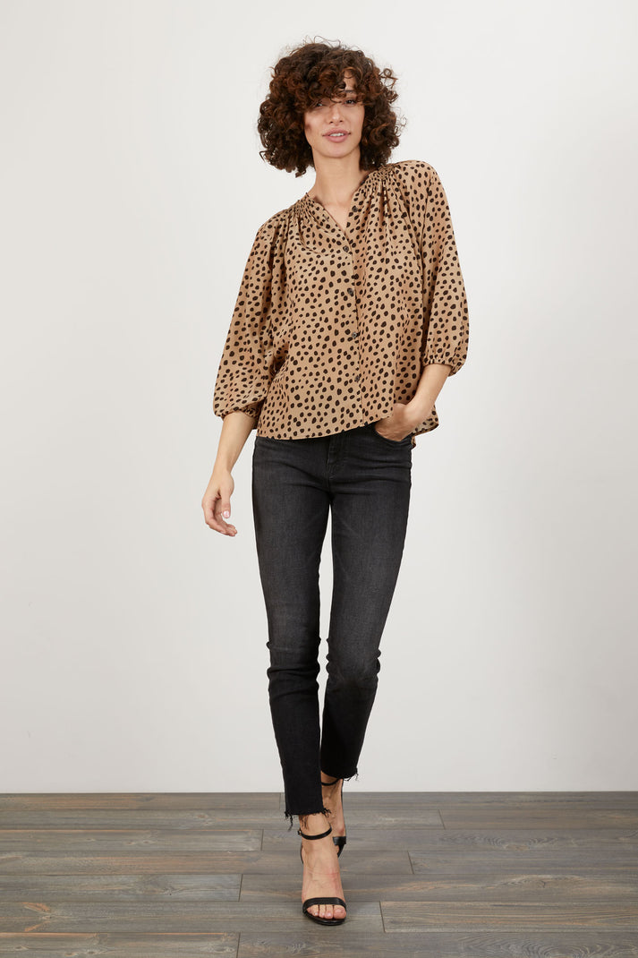 The Classic Blouse | Coffee Dot