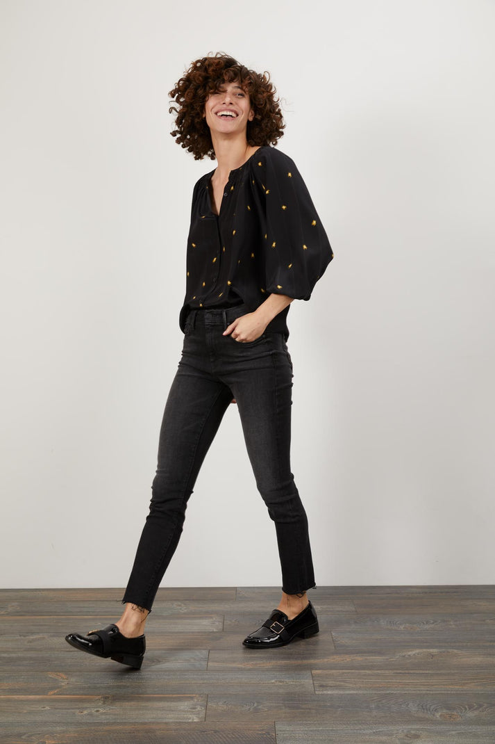 The Classic Blouse | Climbing Scarab Black