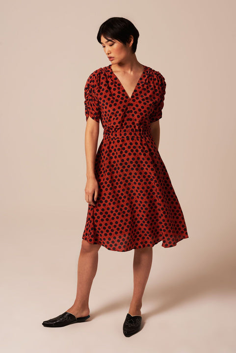 The Market Dress | Red Pointelle