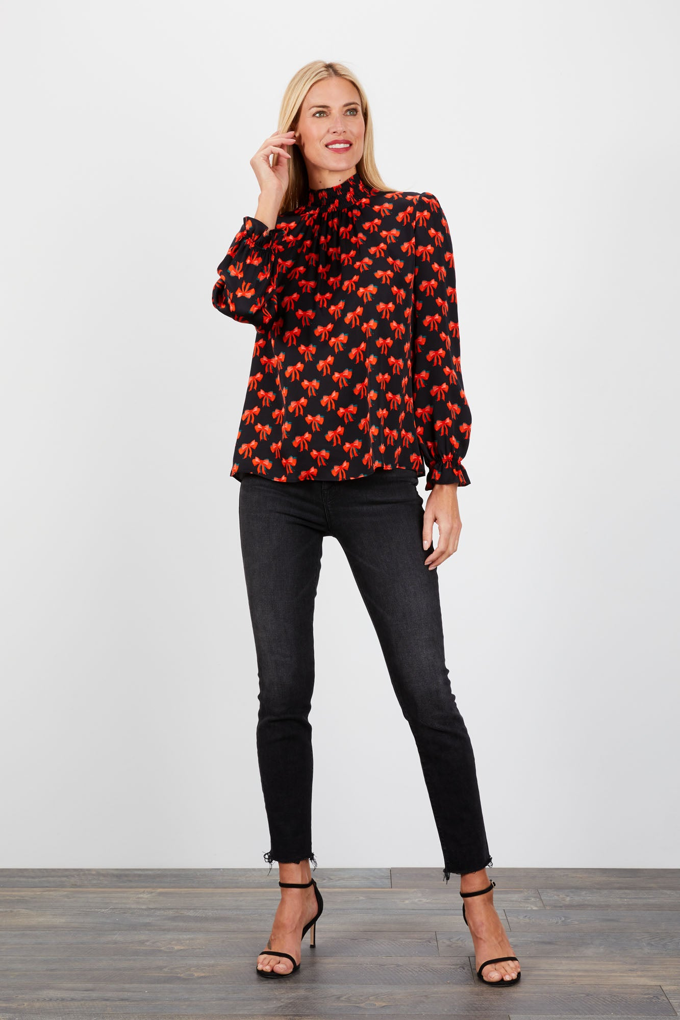 Stella Top | Black Bows