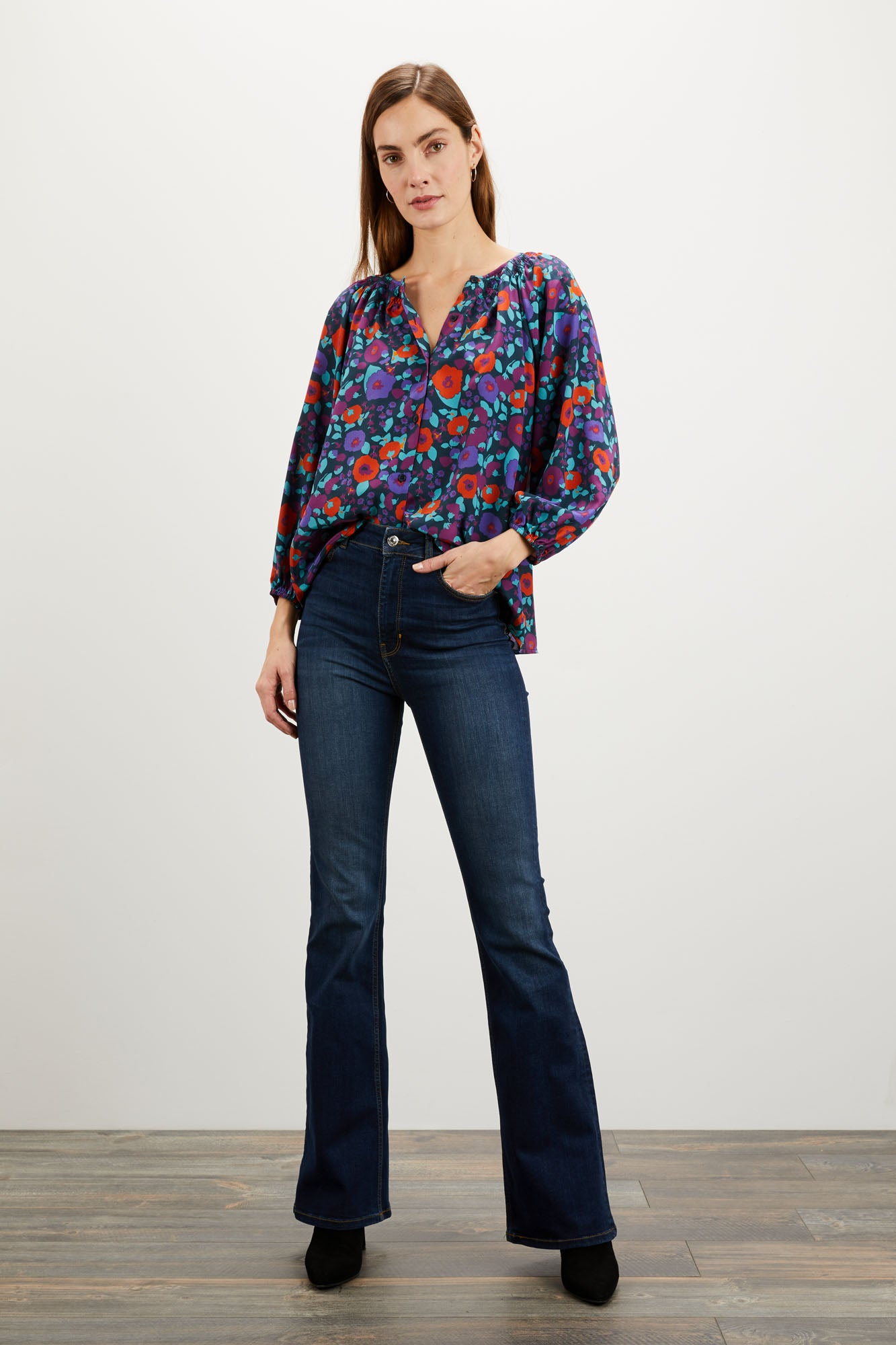 The Classic Blouse | American Woman Navy