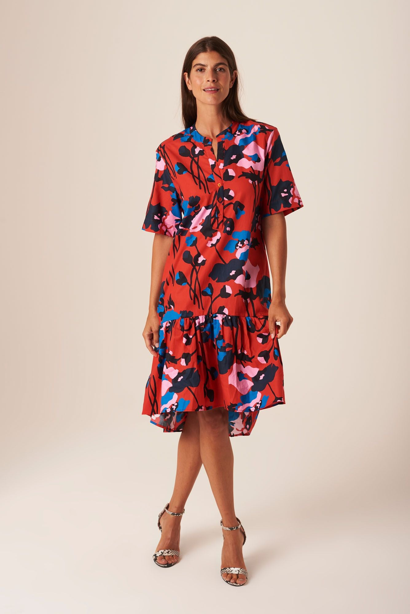 Laura Dress | Dini's Red Floral
