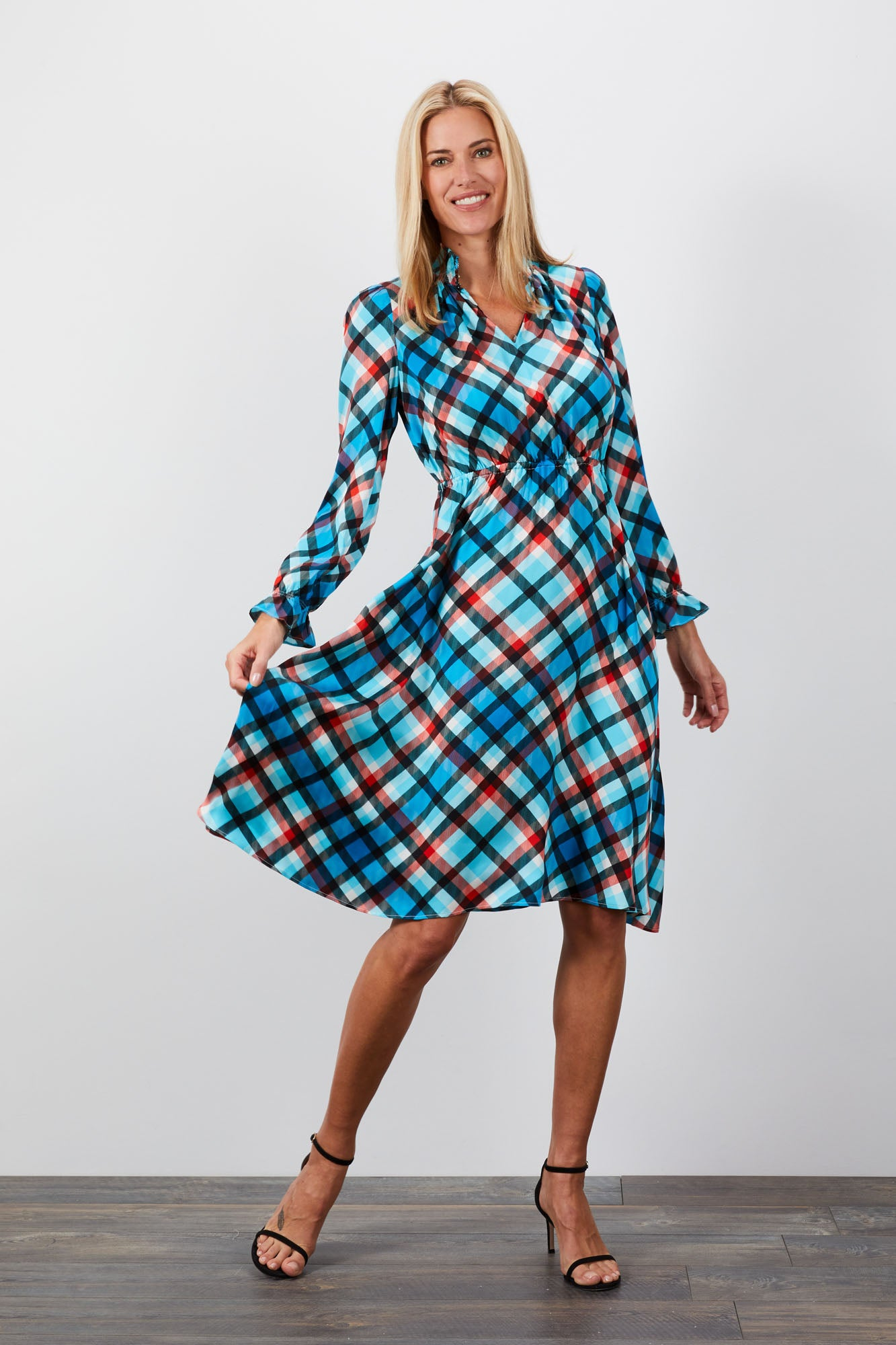 Stella Dress  | Abominable Snowmonster Plaid