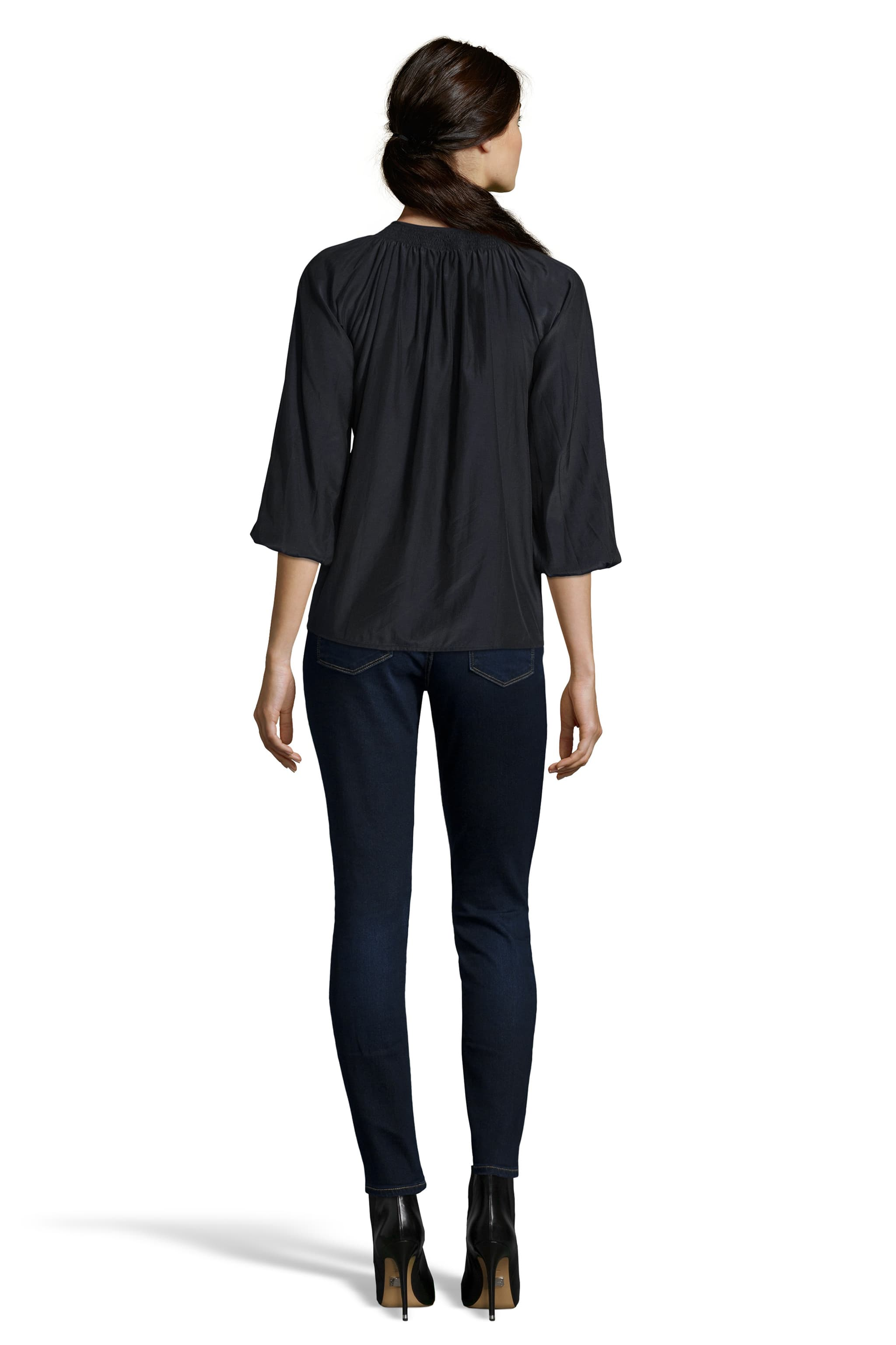 The Classic Blouse | Black Silk Cotton
