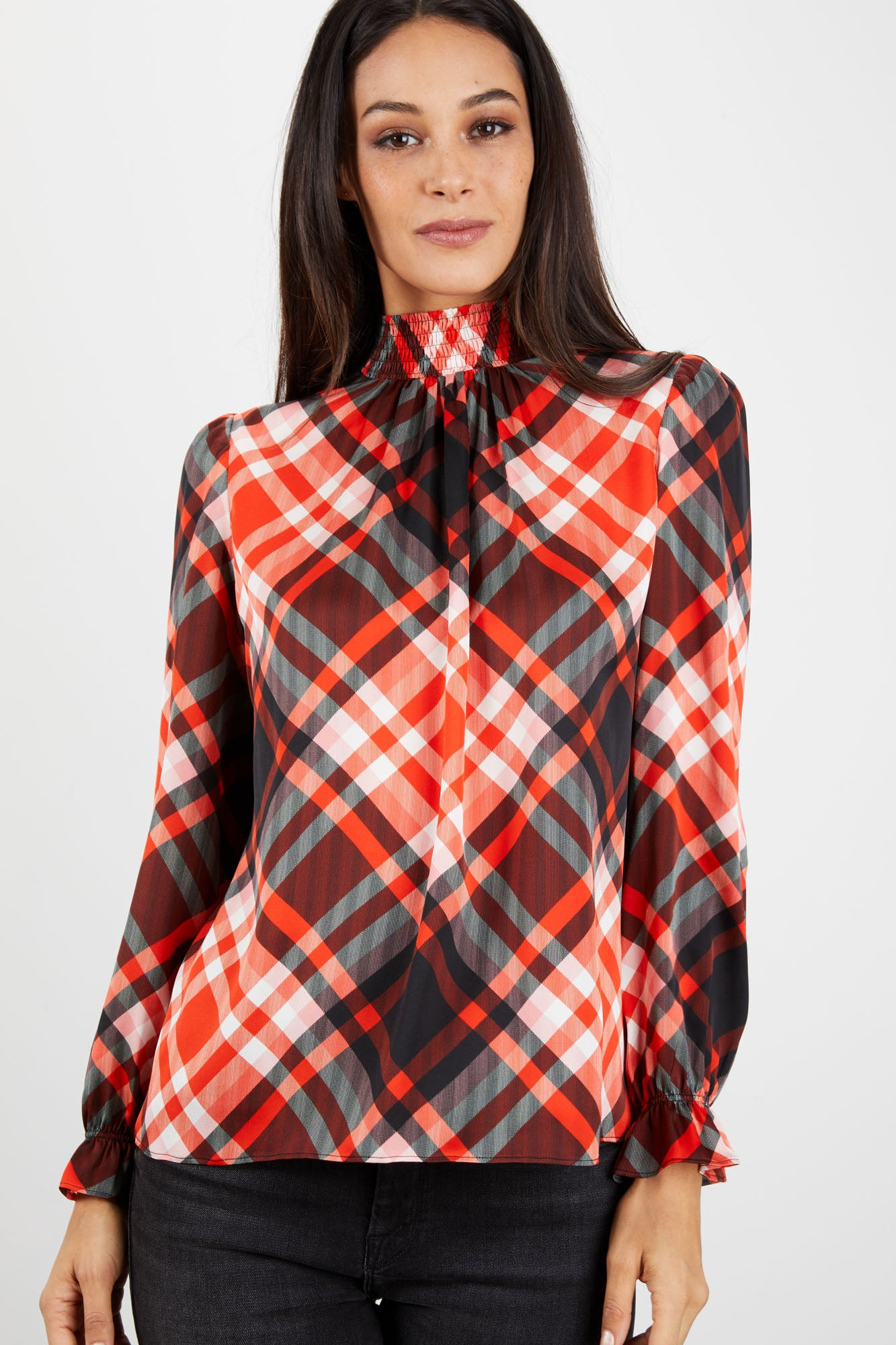 Stella Top | Kris Kringle Plaid