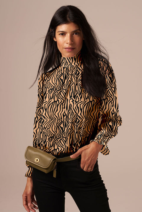 Stella Top | Tan Zebra